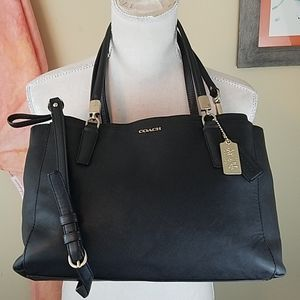 Coach Madison Christie Blk Leather Carryall Purse